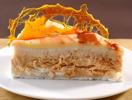 עוגת מוס מסקרפונה קרמל (צילום: חגית גורן ,  יחסי ציבור )