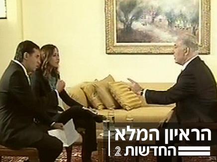בנימין נתניהו בראיון בלעדי עם יונית לוי ואודי סגל (צילום: חדשות 2)
