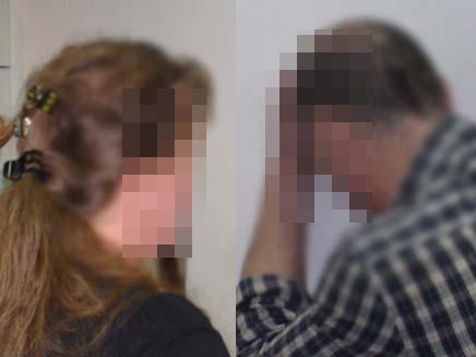 זוג רופאים החשודים באלימות נגד ילדיהם הקטנים (צילום: חדשות 2)
