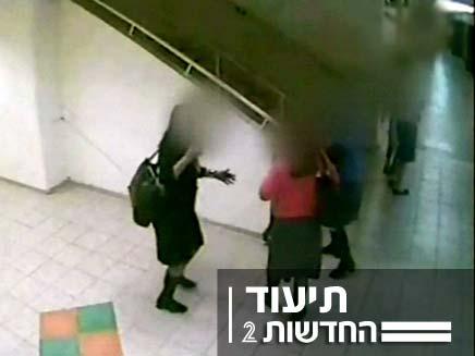 מצלמת אבטחה בבית הספר (צילום: חדשות 2)