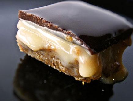 ריבועי לוטוס אגוזים ושוקולד (צילום: דליה מאיר, קסמים מתוקים)
