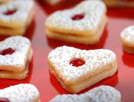 עוגיות חמאה במילוי ריבת תות (צילום: דן פרץ,  יחסי ציבור )