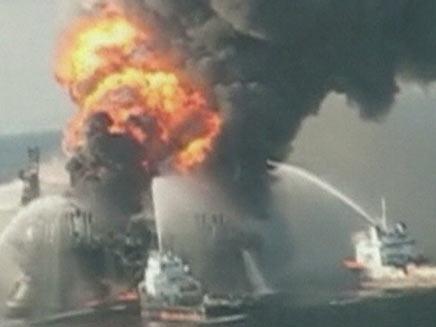 כתם הנפט במפרץ מקסיקו (צילום: חדשות 2)
