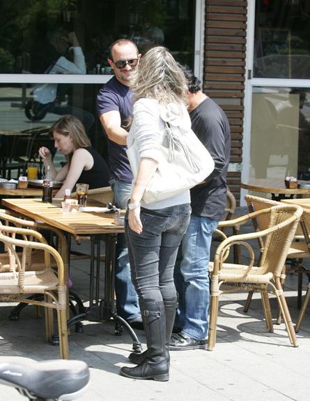 יוסי וורד בובליל בפגישה עם נאור ציון4 (צילום: אלעד דיין)