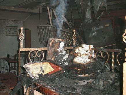 """שריפה בישיבת """"אור החיים"""" (צילום: דוברות כבאות ירושלים)"""