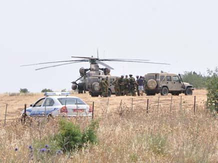 הצנחן התרסק לשדה מוקשים. ארכיון (צילום: אריק בן חיים, יחידת חילוץ גולן)