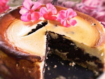 עוגת גבינה במילוי שוקולד פאדג' - שלמה (צילום: דליה מאיר, קסמים מתוקים)