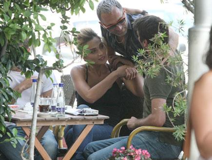 אילנית לוי עם בחור ושלום מיכאלשווילי (צילום: אלעד דיין)