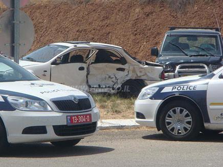 תאונת דרכים בכביש 6 (צילום: חדשות 2)
