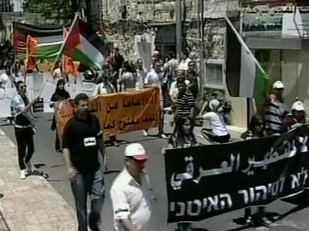 יום הנאכבא בשכונת שיח ג'ראח (צילום: CH2NEWS)