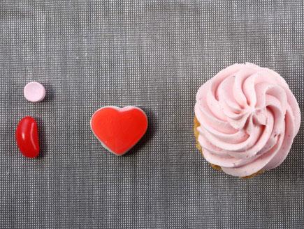 קאפקייקס תות (צילום: דן פרץ, I love Cupcakes)