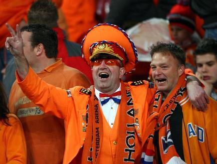 אוהדי נבחרת הולנד. מחצית שניה טובה של נבחרת האורנג´ (GettyImages) (צילום: מערכת ONE)