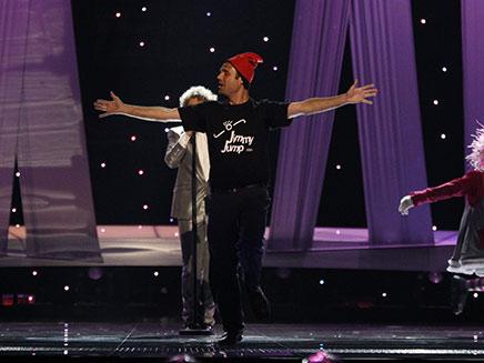 ג'ימי ג'אמפ על הבמה, אתמול באוסלו (צילום: רוייטרס)