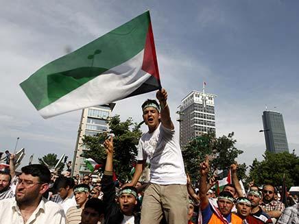 הפגנה נגד ישראל בטורקיה, ארכיון (צילום: רויטרס)
