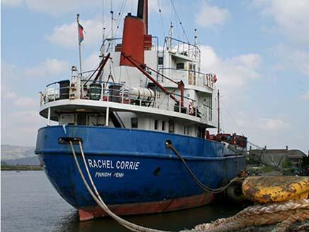 הספינה רייצ'ל קורי בדרך לחופי עזה (צילום: אי פי)