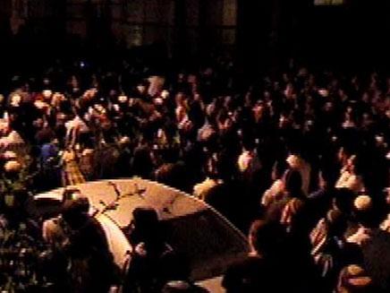 מסע הלוויה, הלילה בירושלים (צילום: חדשות 2)