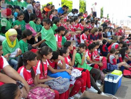 הבנות שהשתתפו בטורניר (שרון זאבי) (צילום: מערכת ONE)