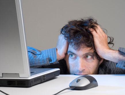 מפחד מהמחשב (צילום: Paul Abbitt, Istock)