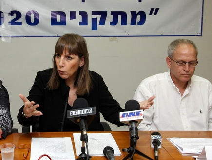לבנת מדברת במסיבת העיתונאים (דרור עינב) (צילום: מערכת ONE)