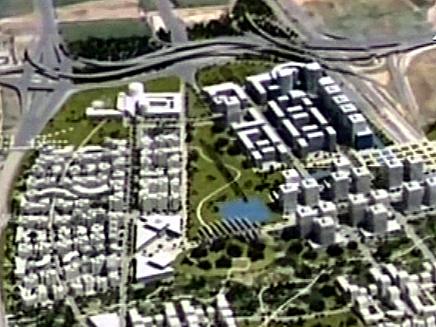 בנייני יוקרה ומתחמי היי-טק. הדמיית פי גלילות (צילום: חדשות 2)