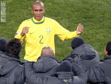 "מייקון חוגג. שום: &""ברזיל תגיע רחוק&"" (רויטרס) (צילום: מערכת ONE)"