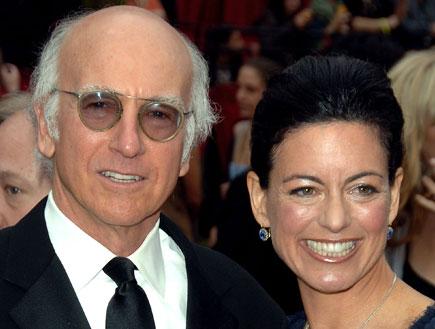 לארי דיוויד ואשתו (צילום: Stephen Shugerman, GettyImages IL)