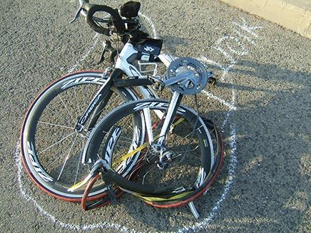 תאונת אופניים. ארכיון (צילום: משטרת ישראל)