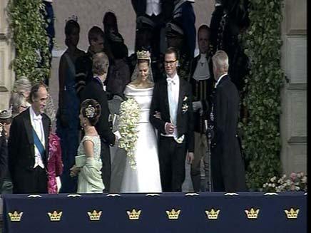 הזוג המלכותי בחתונתו (צילום: רויטרס)