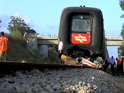 תאונת רכבת בצפון (צילום: חדשות 2)