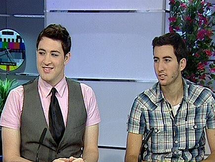 חובי סטאר ואדיר גץ באולפן יום חדש (תמונת AVI: יום חדש)