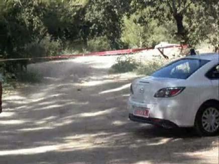 זירת הרצח ביער עירון (צילום: חדשות 2)