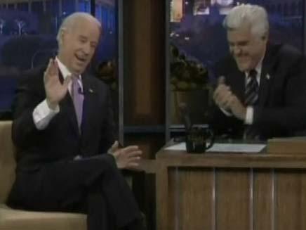 ג'ו ביידן בתכנית של ג'יי לנו (צילום: חדשות 2)