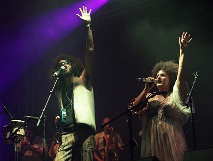 אלרן דקל, קרולינה, הופעה קותימאן (צילום: נועה מגר)
