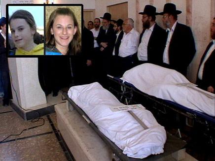 הנכדות מובאות לקבורה, ביום שישי (צילום: חדשות 2)