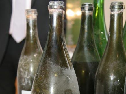 צוללנים משוודיה גילו בקבוקי שמפניה מהמאה ה-18 (צילום: worldrecordsacademy.com)