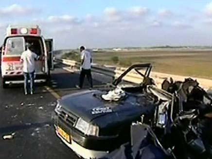 תאונת רכים (צילום: חדשות 2)