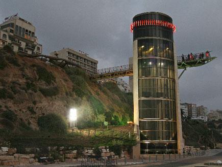 מעלית לים נתניה (צילום: האתר הרשמי)
