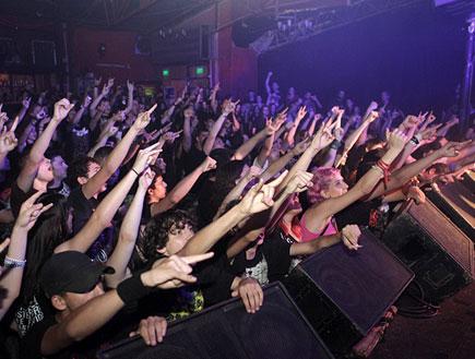 קהל, פסטיבל מטאל (צילום: נועה מגר)
