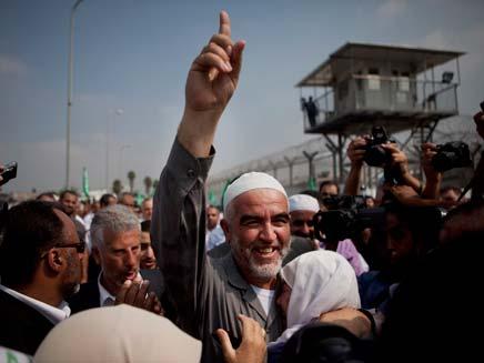 חוזר כמנצח. שייח' ראאד סלאח (צילום: AP)