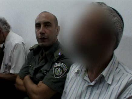 החשוד, היום בבית המשפט (צילום: חדשות 2)