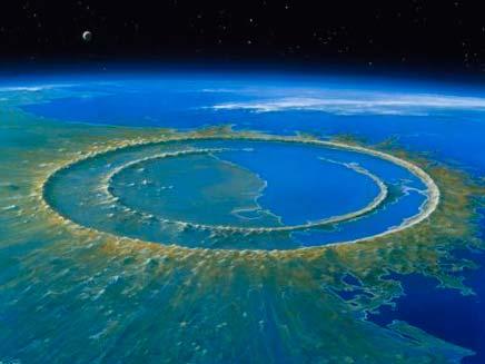 הדמיית פגיעת האסטרואיד (צילום: דיילי מייל)