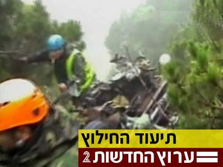 תיעוד החילוץ (צילום: חדשות 2)