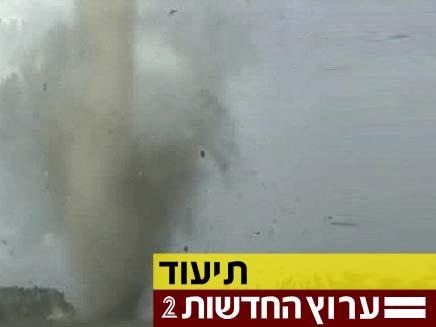 בלב הסערה (צילום: חדשות 2)