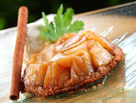 טארט תפוחים של מסעדת אדלינה (צילום:  יחסי ציבור )