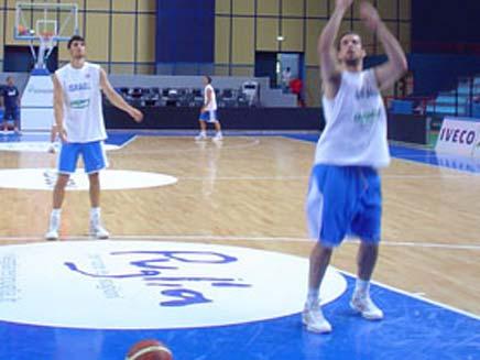 נבחרת ישראל בכדורסל (צילום: חדשות 2)