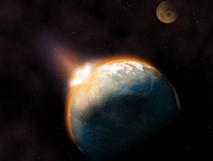 אסטרואיד פוגע בכדור הארץ (צילום: istockphoto)