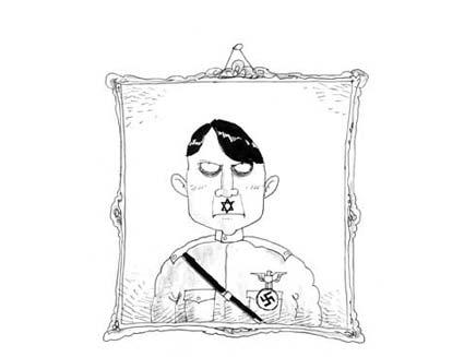 הקריקטורה של היטלר באתר האינטרנט (צילום: חדשות 2)