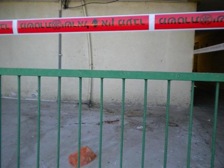 """זירת האירוע בקריית גת (צילום: אתר """"קרית גתים"""")"""