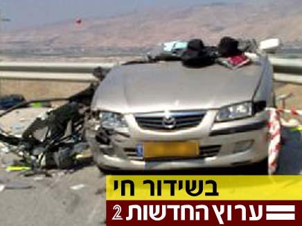 תאונה חזיתית, ארכיון (צילום: חדשות 2)