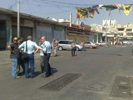 זירת הרצח בנצרת (צילום: חדשות 2)
